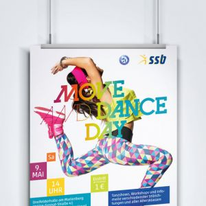 Stadtsportbund Brandenburg – Plakat Move And Dance Day 2015