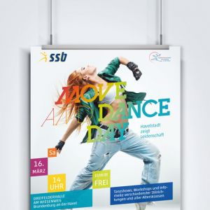Stadtsportbund Brandenburg – Plakat Move And Dance Day 2013