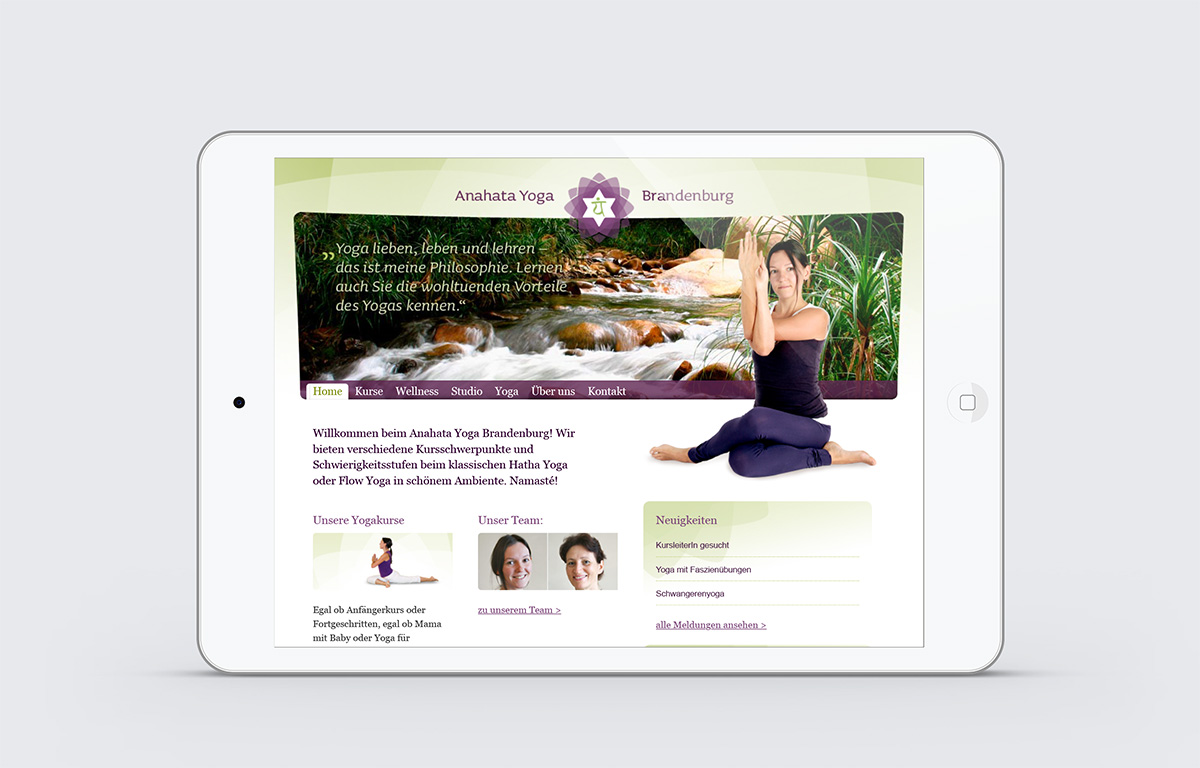 Website Yogastudio