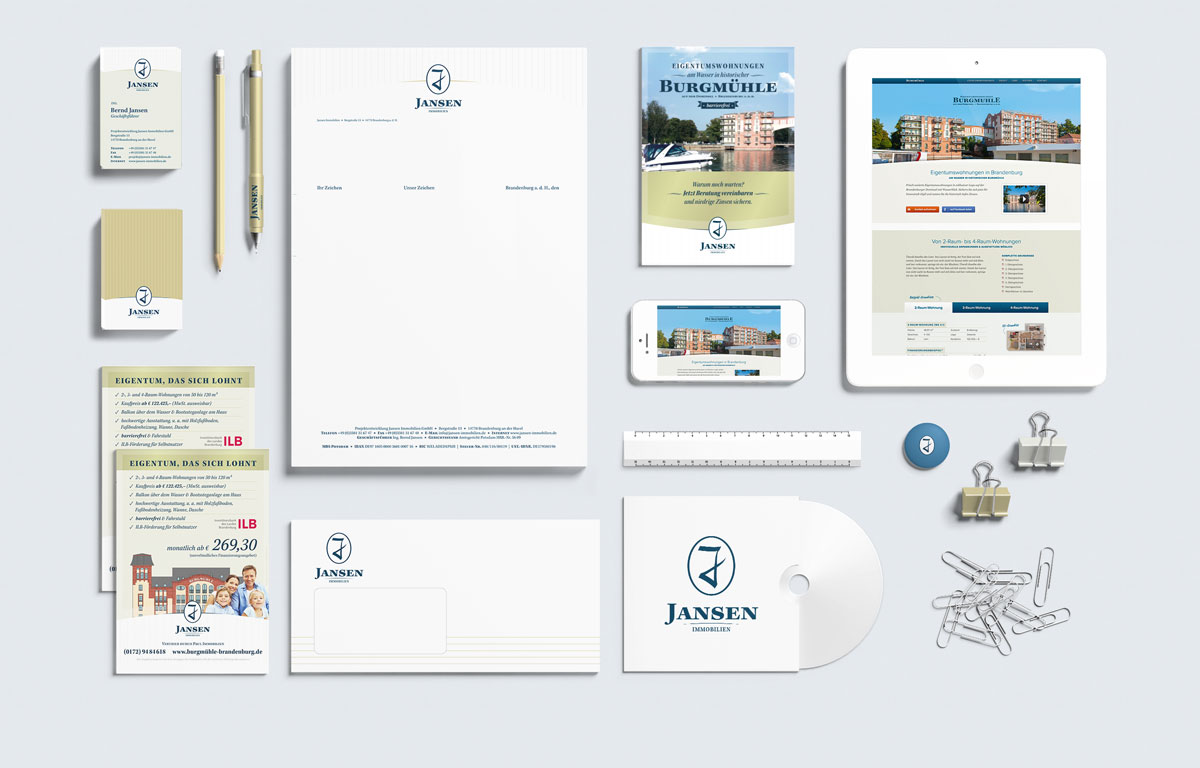 Referenz – Corporate Design – Jansen Immobilien