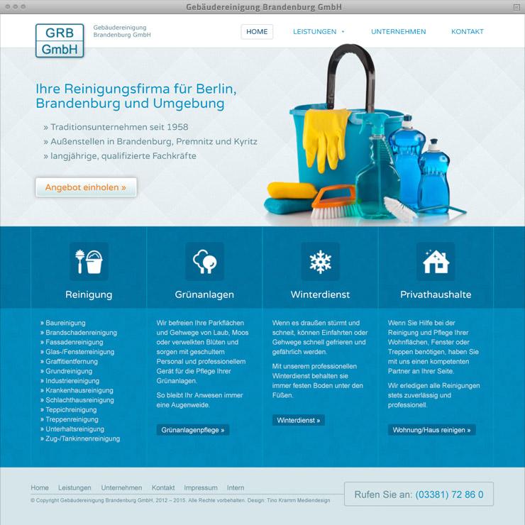 webdesign geb u00e4udereinigung brandenburg