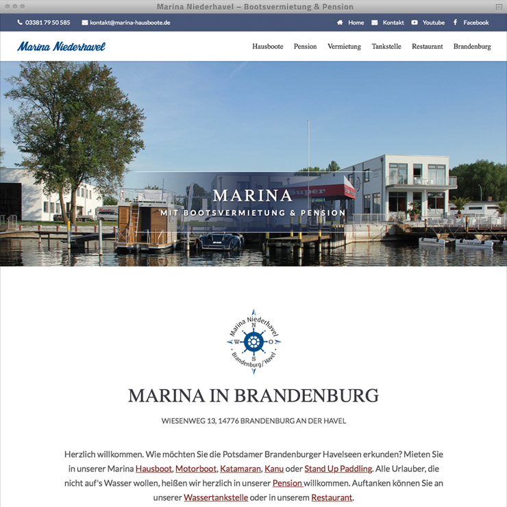 Webdesign Marina Niederhavel – Home