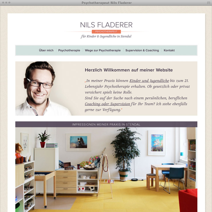 Webdesign Psychotherapeut Fladerer – Home