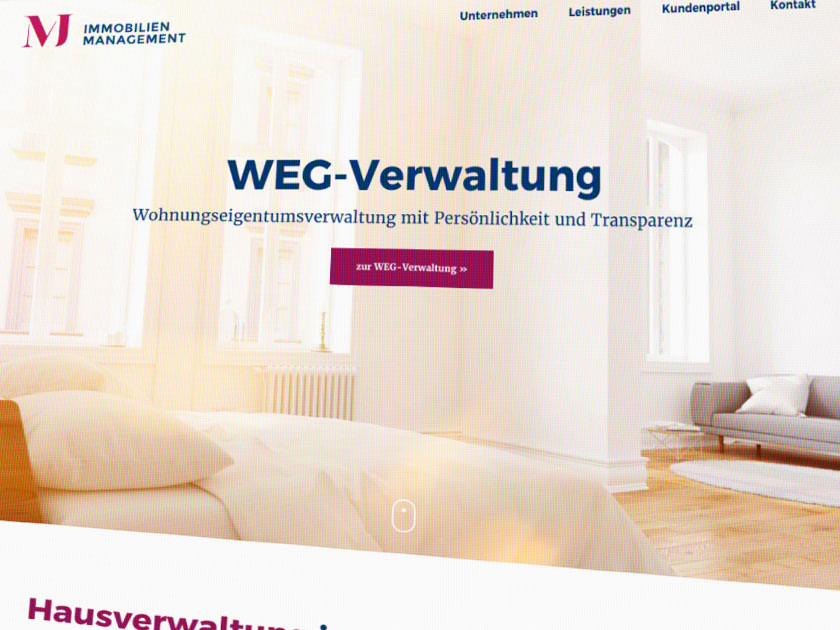 Referenz – Webdesign – MJ Immobilien
