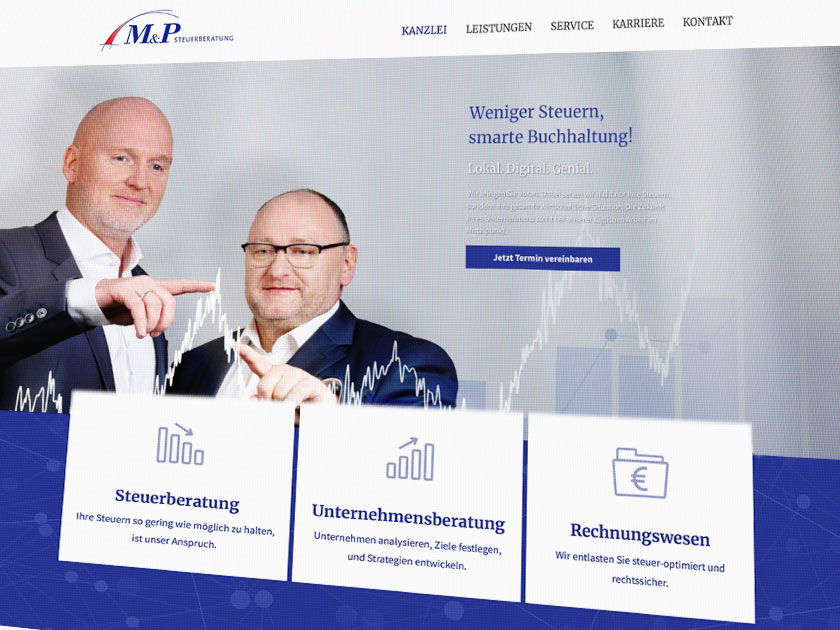Webdesign M&P Steuerberatung