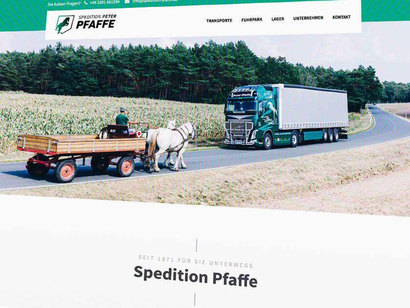 Webdesign Spedition Pfaffe