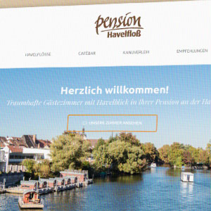 Webdesign Pension Havelfloß