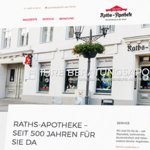 Webdesign Raths Apotheke Brandenburg